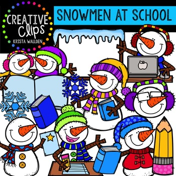 Snowmen at School {Creative Clips Digital Clipart}