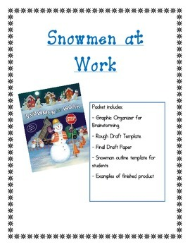 Snowmen at Work: Writing Activity