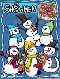 Snowmen (clip art by Happy Markers)