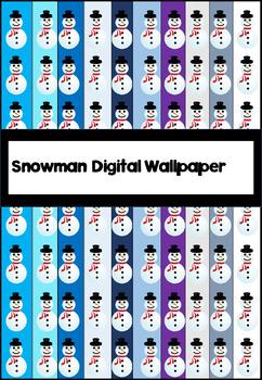 Snowmen digital wallpaper