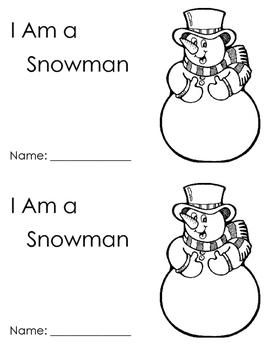 Snowmen - emergent readers