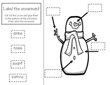Snowmen graphic organizer