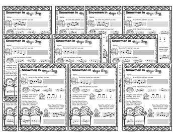 Snowmen in Music Class {A Bundled Set of Melodic Games}