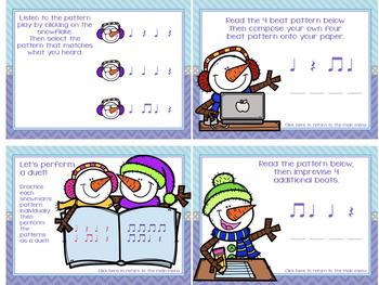 Snowmen in Music Class {A Bundled Set of Rhythm Games}