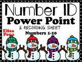 Snowmen in Winter Number ID Power Point