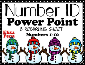 Snowmen in Winter Number ID Power Point