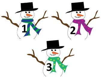 Snowmen tens frame match
