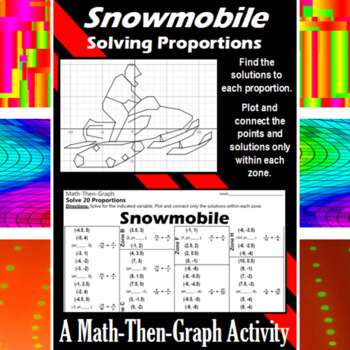 Snowmobile - A Math-Then-Graph Activity - Solving Proportions