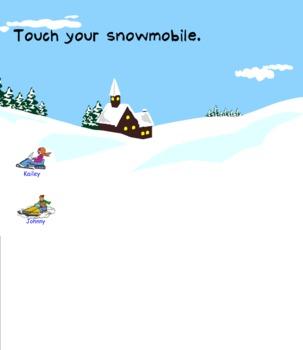 Snowmobile Smart Board Attendance
