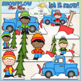 Snowplow For Hire Clip Art - Snowplow Clip Art - Winter -