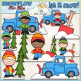 Snowplow For Hire Clip Art - Snowplow Clip Art - Winter -