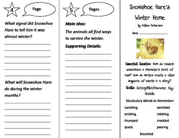 Snowshoe Hare's Winter Home Trifold - ReadyGen 2016 2nd Grade Unit 1 Module A