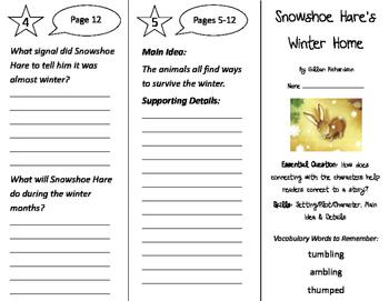 Snowshoe Hare's Winter Home Trifold - ReadyGen 2nd Grade Unit 1 Module A