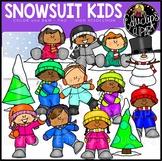Snowsuit Kids Clip Art Set {Educlips Clipart}