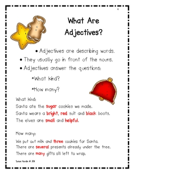 Snowy Adjectives