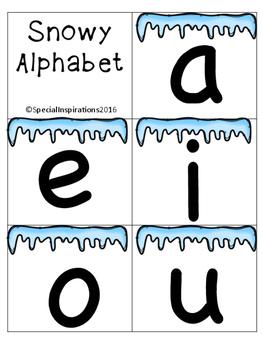 Snowy Alphabet