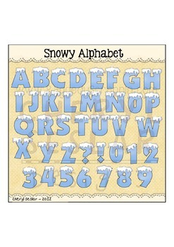 Snowy Alphabet Clipart Collection