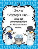 Snowy Alphabet Scavenger Hunt: Upper and Lowercase Letters, Center & Printables