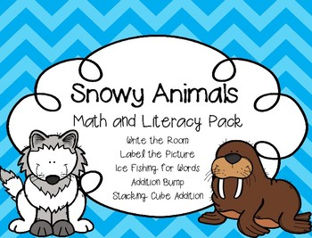 Snowy Animals Math and Literacy Pack