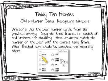 Snowy Bear Math Centers {FREEBIE}
