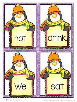 Snowy Blowy Words {Fry sentence building activity}