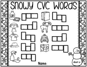 Snowy CVC Words
