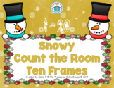 Snowy Count the Room Ten Frames for 1-20