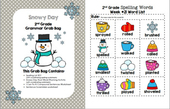 Snowy Day 2nd Grade Grammar Grab Bag #21
