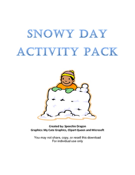 Snowy Day Activity Pack