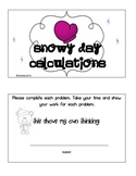Snowy Day Calculations Math Missing Addends & More!
