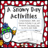Snowy Day Reading Activities Comprehension Math Winter Snow