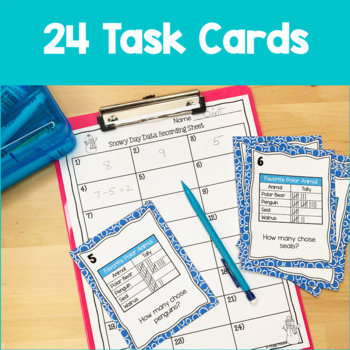 Data Analysis Printables and Task Cards