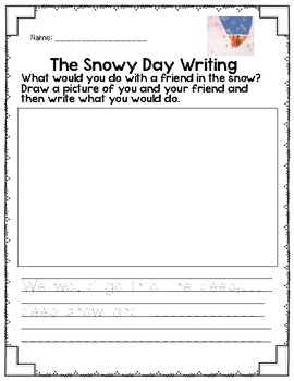 Snowy Day ECE Activity Packet