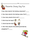 Snowy Day Fun Graphing Questions