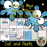 Snowy Day Number Fluency 1-20 1-30 1-50 1-100 Cut and Paste Grade 1