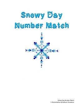 Snowy Day Number Match