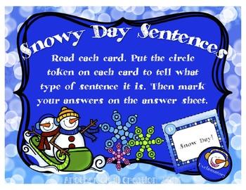 Snowy Day Sentences