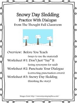 Snowy Day Sledding- Dialogue Practice
