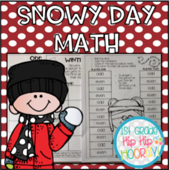 Snowy Day Themed Math...Dice Games/Cut and Paste!