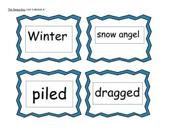 Snowy Day Vocabulary-Ready Gen Unit 3 Module A