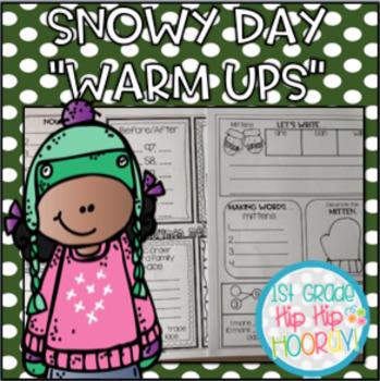Snowy Day Warm Ups!...Common Core Practice Activities