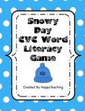 Snowy Day Winter CVC Word Game