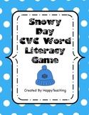 Snowy Day Winter CVC Word Game