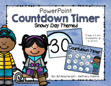 Snowy Day *Winter* Themed PowerPoint Timer - Up to 60 Min!