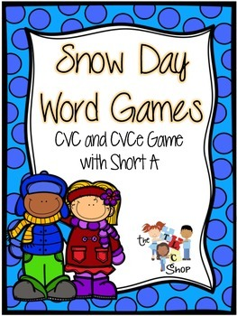 Snowy Day Word Games: CVC and CVCe Words with Short A