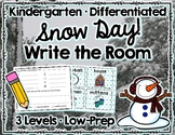 Snowy Day Write the Room Kindergarten