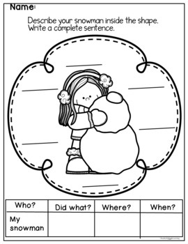 Snowy Days Printables for Literacy and Math