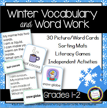Winter Vocabulary and Word Work