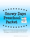 Snowy Days Packet: Preschool & Early Elementary Printables
