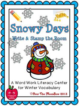 Snowy Days Write / Stamp the Room Activity Pack